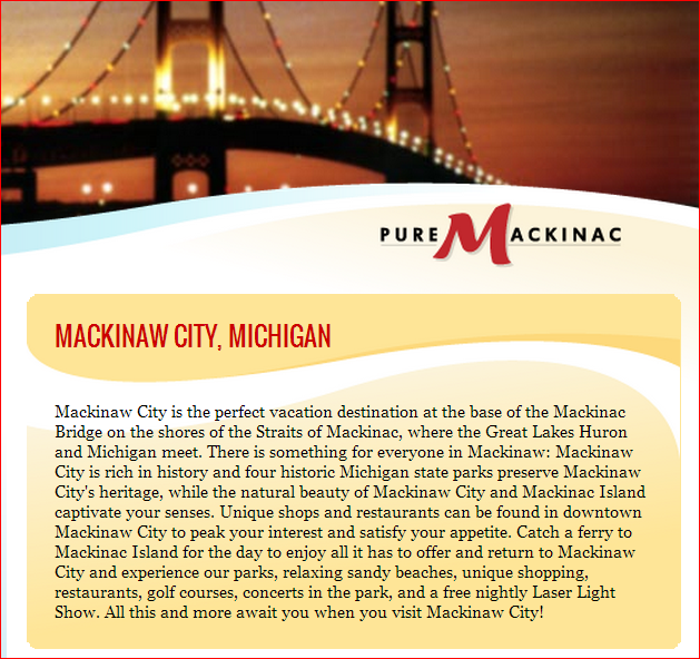 mackinaw city dating site Mackinaw city's best free dating site 100% free online dating for mackinaw city singles at mingle2com our free personal ads are full of single women and men in mackinaw city looking for.
